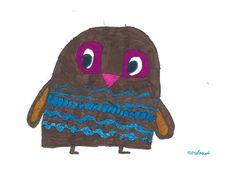 owl by Merel Goud, age 8