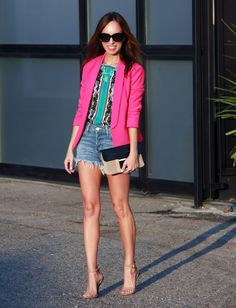 #Express pink blazer as featured on the blog Sydne Style