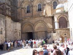 Church of the Holy Sepulchre Jerusalem ~ Traditionally believed to be located on Golgotha and is also believed to contain the tomb where Jesus is buried