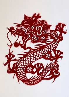 chinese dragon paper cutting