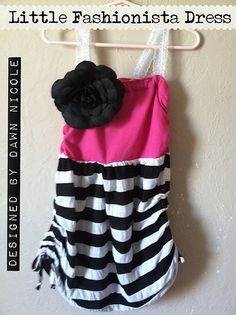 Make a little girl's dress out of two shirts! #sewing