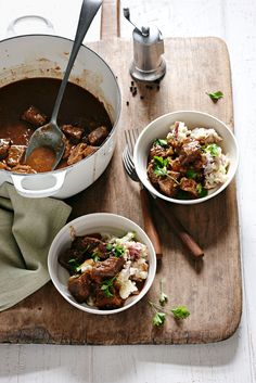 Beer-Braised Beef with Potatoes and Cabbage #beef #healthy