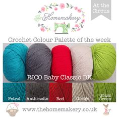 When it comes to starting a new crochet project one of the most fun and sometimes challenging aspect of the project is deciding on the colours to use. That's where we can help. Every week we will be posting a crochet colour palette of the week matched back to a range of wool stocked here […]