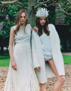 like a virgin: alma durand and karolina gorzala by clare shilland for elle france 21st june 2013 | visual optimism; fashion editorials, shows, campaigns & more!