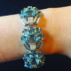 Cartier London -- my favorite of all the Cartier workshops. Especially for pieces like this Art Deco aquamarine and diamond bracelet (lot 138). Coming 12.7.16 @christiesjewels NYC. #cartierlondon #cartier #artdeco #christiesjewels