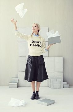 don't panic! (awesome sweater from #nordstrom)