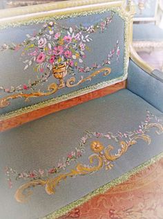 1:12 Inch Scale Handpainted Rococo style Settee by Maritza Miniatures on Etsy