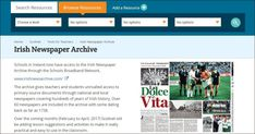 Grav is an easy to use, yet powerful, open source flat-file CMS Newspaper Article, Old Newspaper, Irish Times, Newspaper Archives, Digital Archives, Key Dates, Compare And Contrast, Open Source, Over The Years