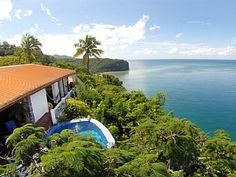 One of the Best Views in St. Lucia - a 270° View of Marigot Bay & Caribbean SeaVacation Rental in Marigot Bay from @homeaway! #vacation #rental #travel #homeaway