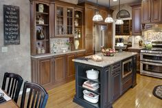 Epiphany Kitchens's Design, Pictures, Remodel, Decor and Ideas - page 3 South Lyon, Crushed Glass, Raised Panel, Custom Cabinets, Traditional Kitchen, Fireplace Mantels, Home Kitchens, Kitchen Design, New Homes