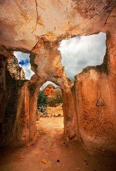 Keslik Monastery between Urgup and Kaymakli in Cappadocia, Turkey ✯ ωнιмѕу ѕαη∂у Byzantine Art, The Monks, Wonderful Picture, 12th Century, Hercules, Travel Mug, Mount Rushmore, Landscape, Architecture