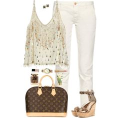 Going to the seaport with my love by xoxomuty on Polyvore featuring polyvore fashion style Calypso St. Barth Earnest Sewn Gianvito Rossi Louis Vuitton Michael Kors Chanel Dolce&Gabbana Terry de Gunzburg AERIN