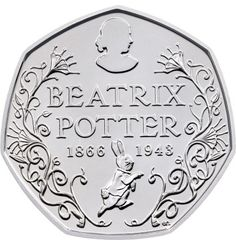 Beatrix Potter's Limited Edition 50p coins | #beatrixpotter #peterrabitt #benjaminbunny #tomkitten #mrstiggywinle #limitededition #coins #50cp #theroyalmint