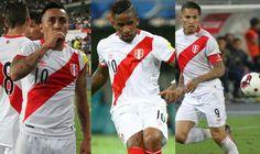 Cueva, Farfán and Guerrero ante Argentina. Setiembre 12, 2016.