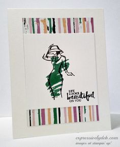 Expressively Deb Stampin' Up! beautiful-you1 Playful Palette DSP, Emerald Envy Debbie Crowley Stampin' Up!