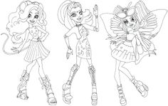 Free Printable Monster High Coloring Pages Gala Ghoulfriends Boo York Page