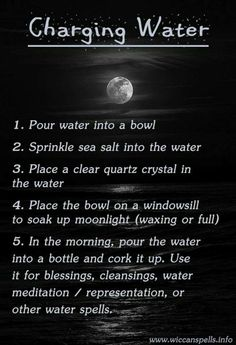 Moon water | how to make cleansing water