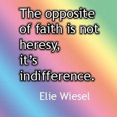 Faith and heresy, the age-old dance.
