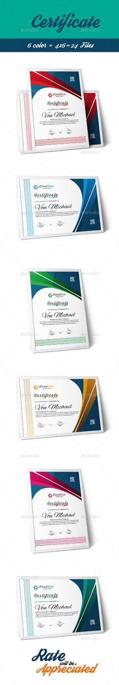 Certificate Certificate, Certificate design and Template - creative certificate designs