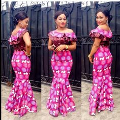 Creative Ankara Long Gown Design http://www.dezangozone.com/2016/02/creative-ankara-long-gown-design_29.html - DeZango Fashion Zone