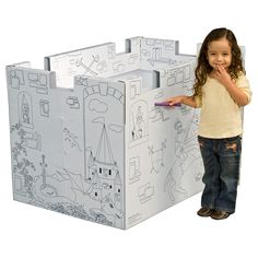 Pharmtec My Very Own Castle Cardboard Playhouse - Encourage your child's imaginative play with the Pharmtec My Very Own Castle Cardboard Playhouse. Providing hours of make-believe fun, this pl...