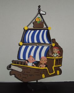 Jake's ship centerpiece by cricflix on Etsy, $20.00