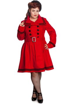 fc89d8c4a810 Hell Bunny Millie Coat - Red - Re Dress Online   this might be on my  Christmas list