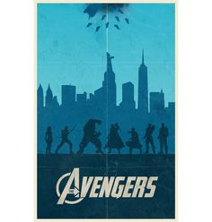Well done minimalist Avengers movie poster.  [The Avengers movie poster. $20.00, via Etsy.]