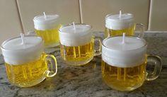 Mini canequinha de vidro vela de chopp <br> <br>Ideal para lembrancinhas, aniversário, chá bar, etc. SÃO EMBALADAS EM CELOFANE E LAÇO DE FITA.