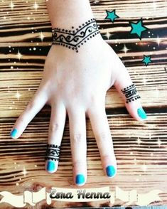 Easy henna tattoo designs on hand for girl and beginner 09012019 (11)