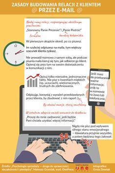 Zasady budowania relacji przez e-mail #infografika #infographic #businessinfographic #biznes
