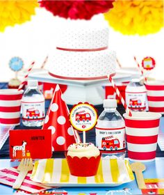 Fire Truck Birthday Party in a Box from SimplyGenie.com. Get a one-of-a-kind fire truck party with the personalized, crafty decorations you love and all the trendy party supplies in one place!