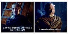 Stannis and Ser Davos! Onion Knight!