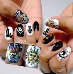 fashionable uv gel nails art by renhexin - Nail Art Gallery nailartgallery.nailsmag.com by Nails Magazine www.nailsmag.com #nailart