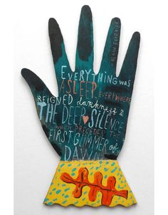 """""""Everything Was Asleep"""" by Jonny Hannah (hand painted cut out ply)"""