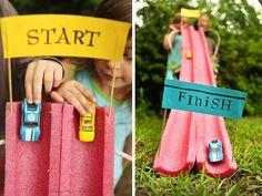Estrada de Brincar   DIY diy brinquedos para crianças brinquedos educativos brinquedos divertidos brinquedos de papelão brinquedos com caixa...