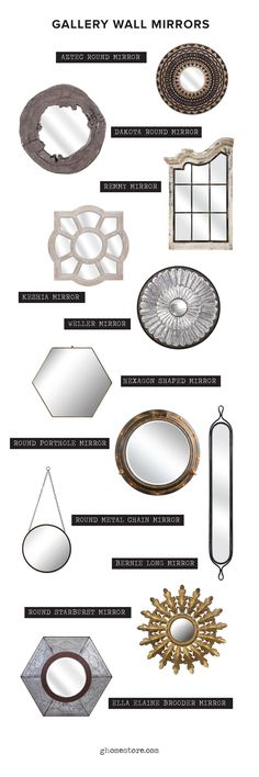 Gallery Wall • Mirrors • Home Decor • g.home