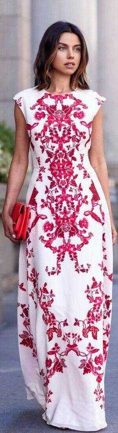 TED BAKER Nelum maxi dress / Fashion by VivaLuxury