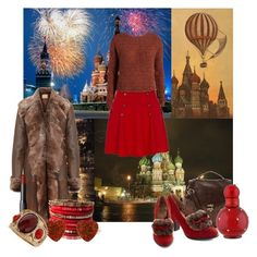 """""""Move to Moscow"""" by bora-mb ❤ liked on Polyvore featuring By Terry, Dom & Ruby, Red Or Dead, Champion, Miss L Fire, NARS Cosmetics, mbyM, River Island, Nangara and Dorothy Perkins"""