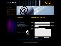 Web Virtual Web Estudio v.1 2012-13 - Contactar #diseñoweb #paginasweb #DiseñadorWebValencia #DiseñadorWeb