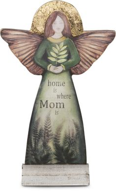 "Mom, 11.5"" Self-Standing Angel - Sherry Cook Studio - Pavilion"
