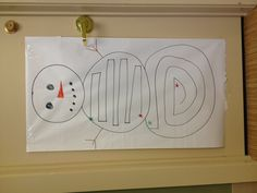 Visual motor/ midline snowman activity I set up in the OT/PT room this week