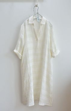 화이트 셔츠카라 린넨원피스 Girl Fashion Style, Summer Fashion Outfits, Womens Fashion, Fashion Design, Linen Dresses, Casual Dresses, School Uniform Outfits, White Pants Outfit, Ethnic Wear Designer