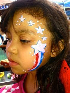 Face paint on Pinterest | Face Paintings, Red White Blue and Flags