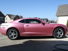Pink Camaro... I would love to own this car!!