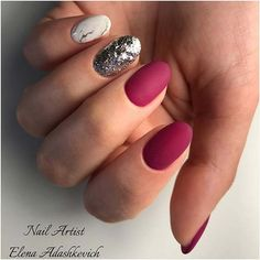 11 More Must Have Matte Nail Designs for Fall: #5. GLITTER, MARBLE AND MATTE NAIL DESIGNS