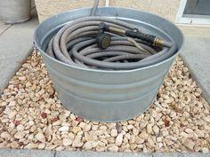 Galvanized Wash Tub to hold garden hose