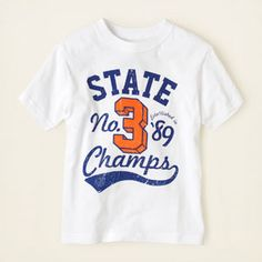 boy - graphic tees - state champs graphic tee | Children's Clothing | Kids Clothes | The Children's Place