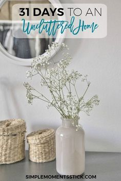 Take part in this 31 day challenge and you'll find your home a much more peaceful and uncluttered space! PLUS: Find out what to do with the stuff you're getting rid of!