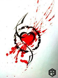 Abstract heart by Transcendentalny-P polka tattoo vorlagen unterarm Explore best trashpolka art on DeviantArt Trash Polka Tattoos, Tattoo Trash, Cool Arm Tattoos, Arm Tattoos For Guys, Arte Trash Polka, Tattoos For Baby Boy, Elephant Tattoos, Owl Tattoos, Fish Tattoos